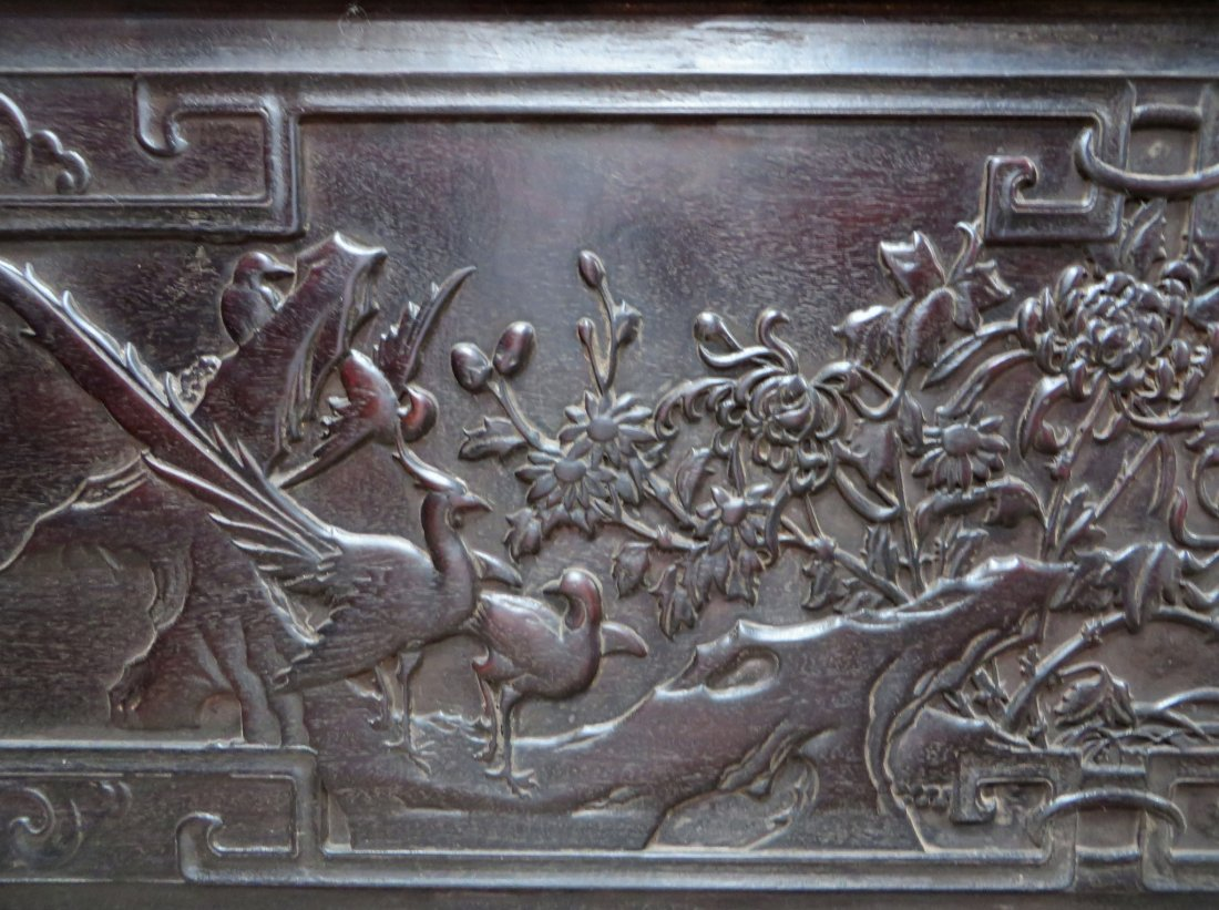 UNIQUE CHINESE ZITAN & PORCELAIN WARDROBES - 6