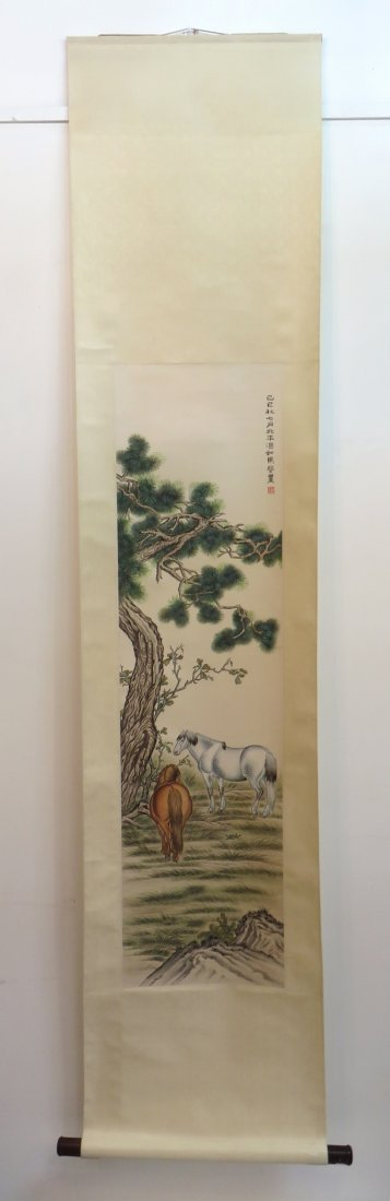 CHINESE HORSE SCROLL - 2