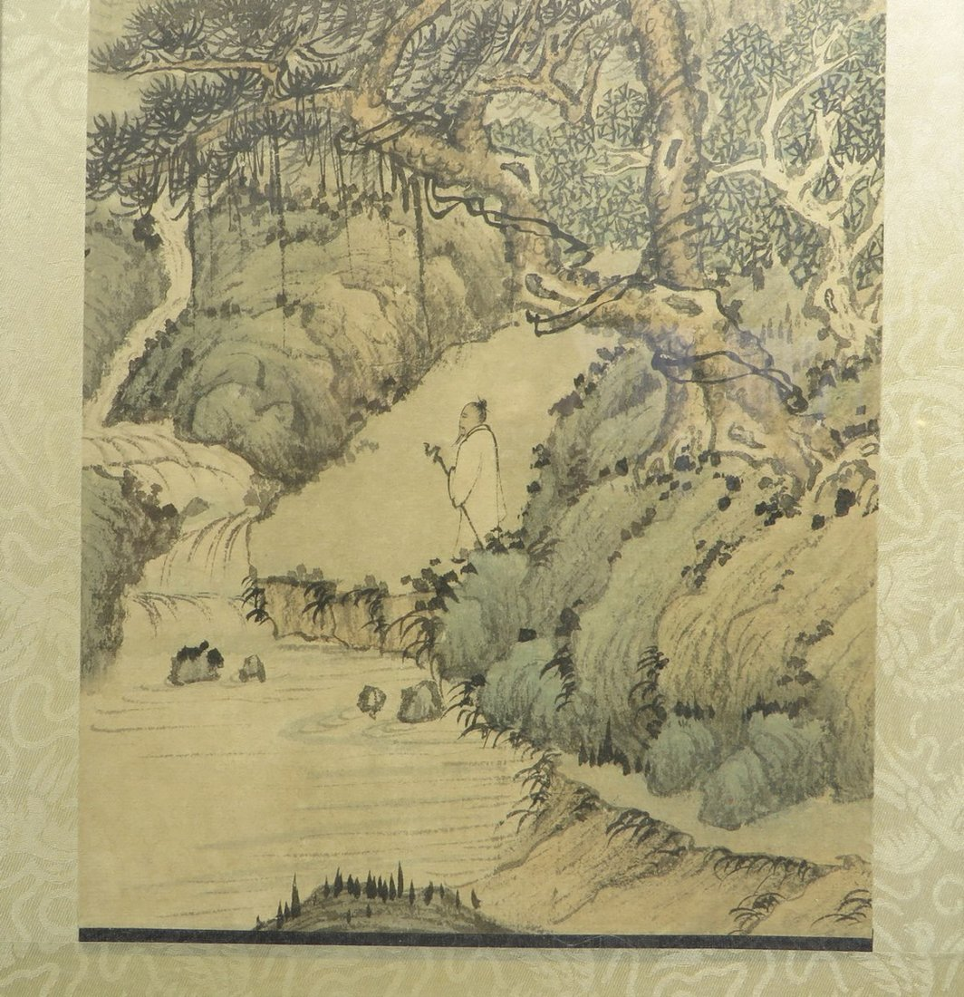 PAIR OF CHINESE FRAMED SCROLL PAINTINGS - 4