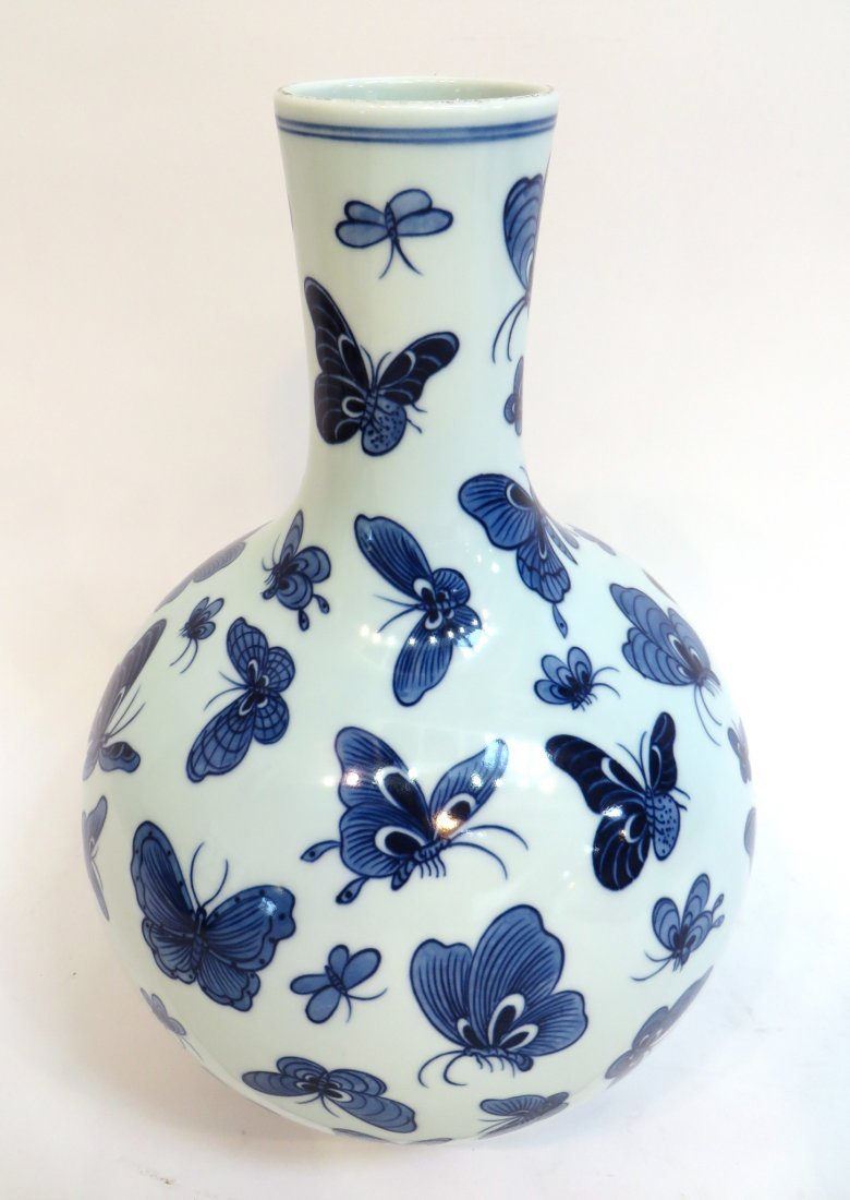 "CHINESE ""ONE HUNDRED"" BUTTERFLY VASE - 3"