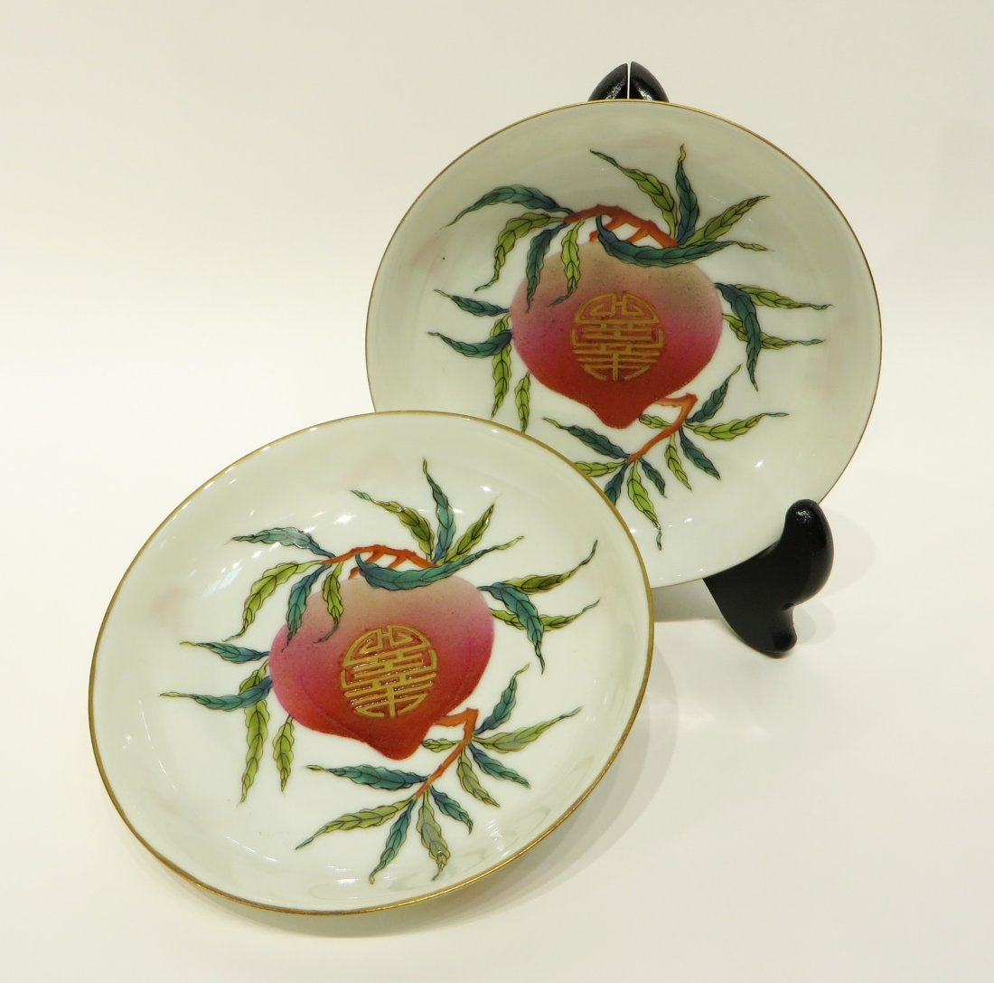 PAIR OF CHINESE GUANG XU PORCELAIN PLATES