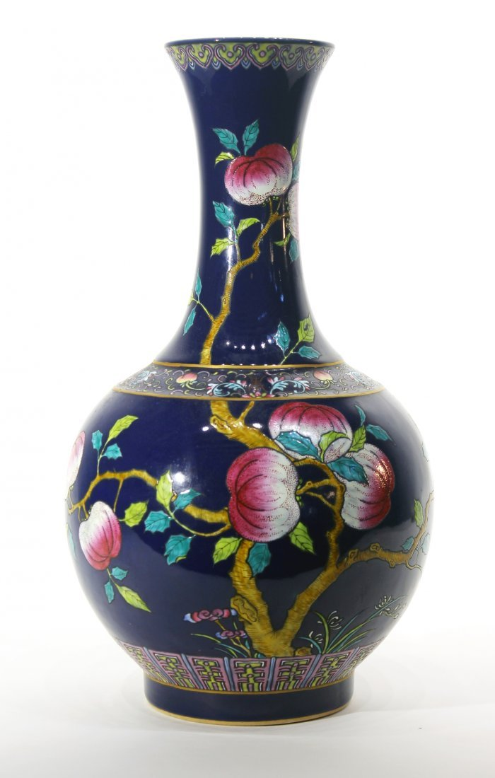 GUANG XU NINE PEACH VASE