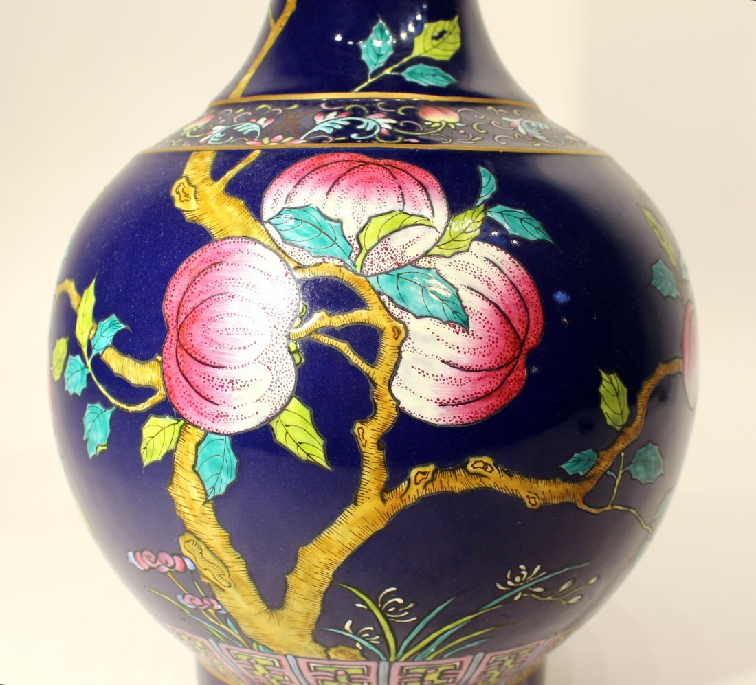 GUANG XU NINE PEACH VASE - 2