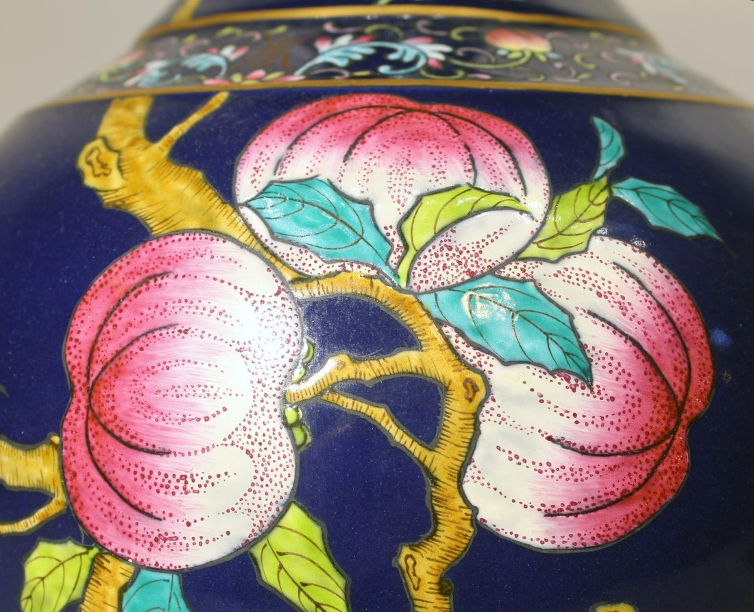 GUANG XU NINE PEACH VASE - 3