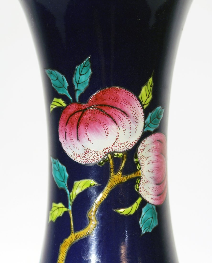 GUANG XU NINE PEACH VASE - 5