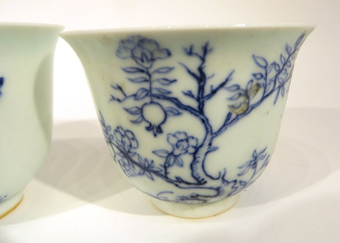 CHINESE FOUR KANG XI MARKED TEA CUPS - 2