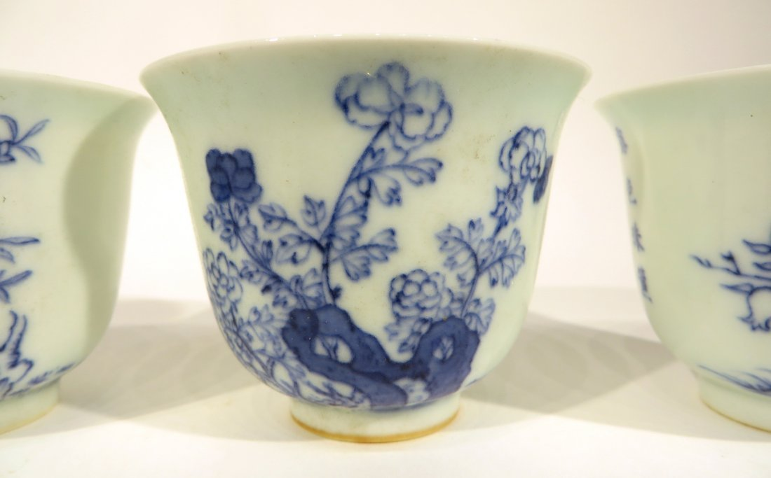 CHINESE FOUR KANG XI MARKED TEA CUPS - 7