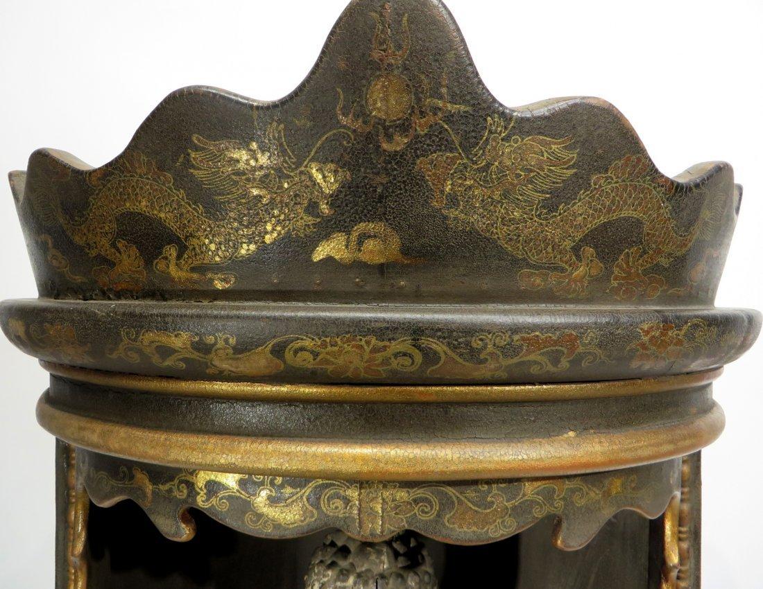 CHINESE MING DYNASTY WOODEN BUDDHA SHRINE - 2