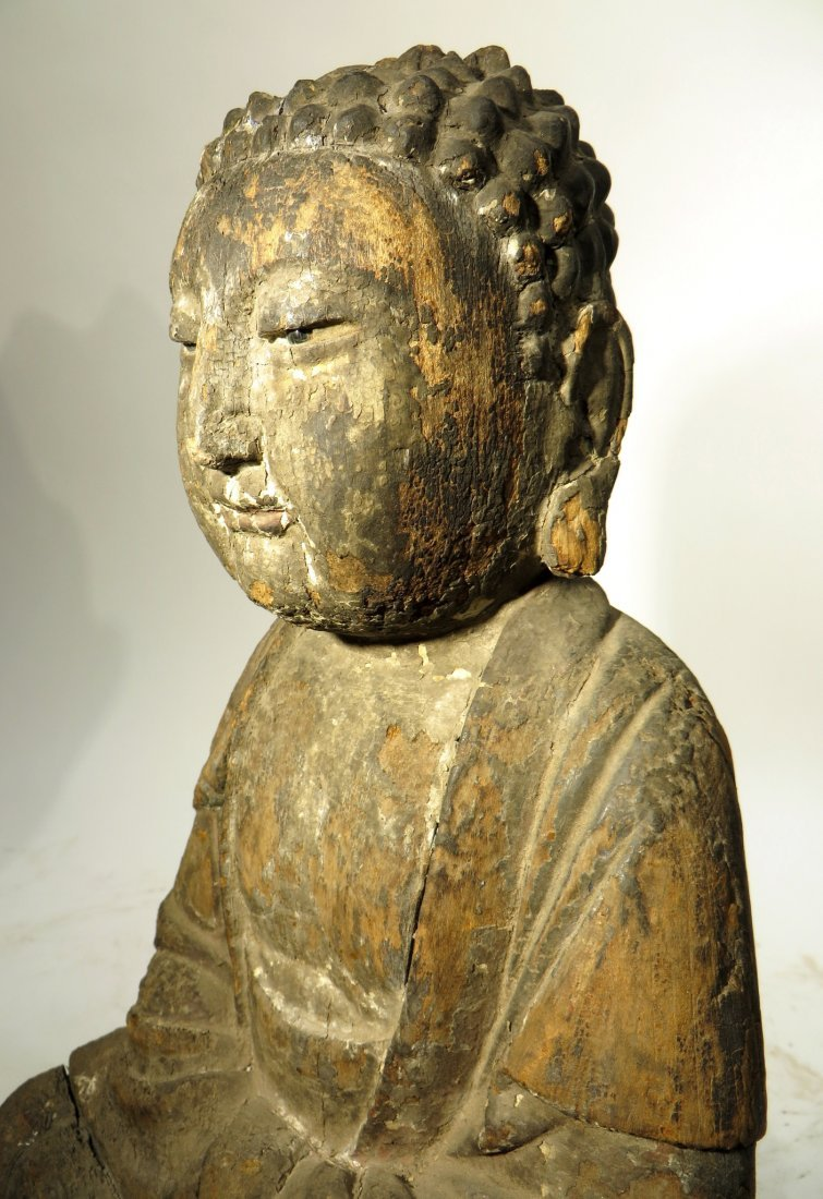 CHINESE MING DYNASTY WOODEN BUDDHA SHRINE - 5