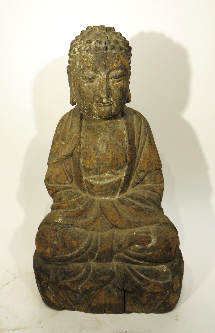 CHINESE MING DYNASTY WOODEN BUDDHA SHRINE - 6