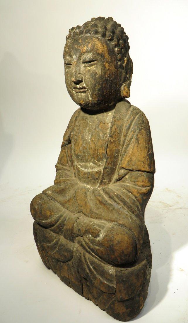 CHINESE MING DYNASTY WOODEN BUDDHA SHRINE - 7