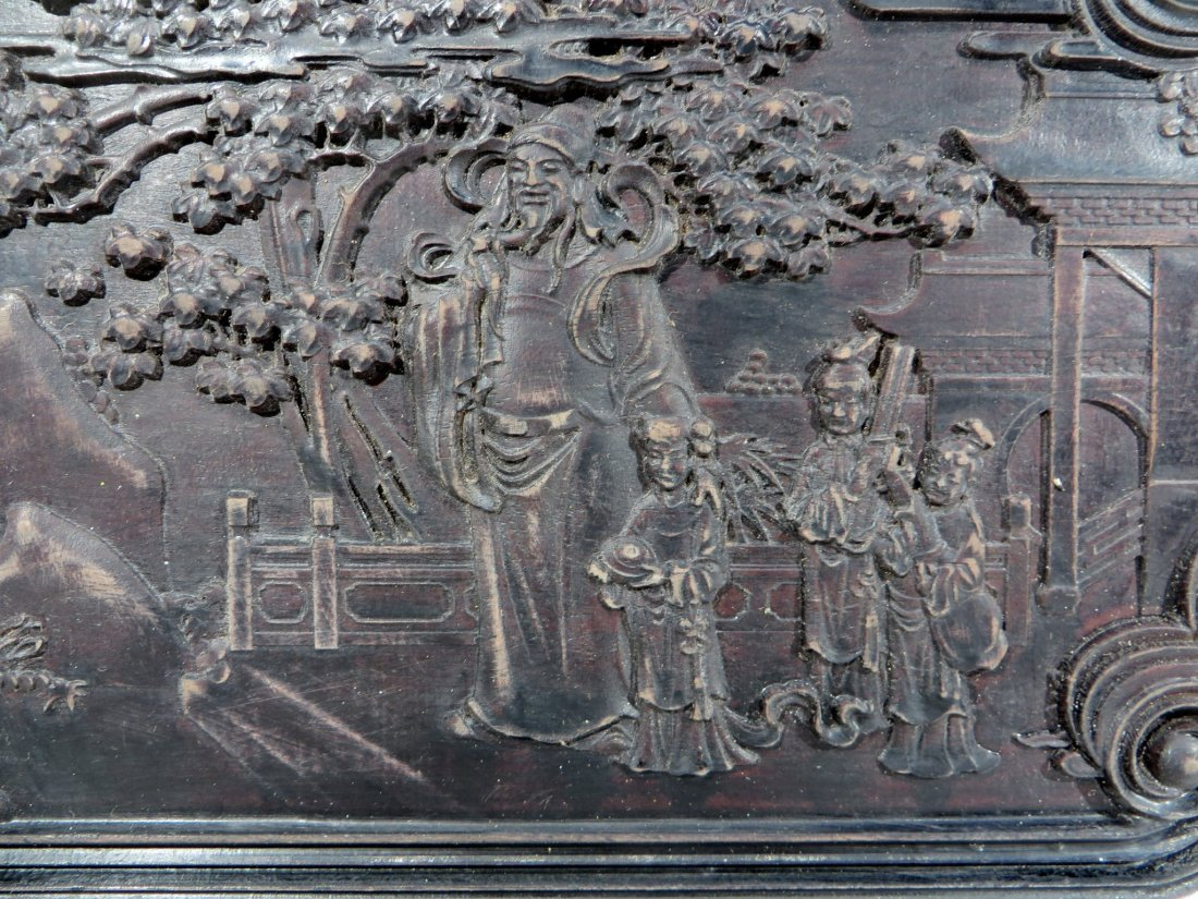 CARVED ZITAN TABLE SCREEN - 3