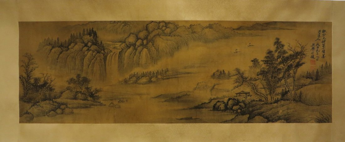 PAINTING ON SILK SIGNED WU LI BING (1632-1718)