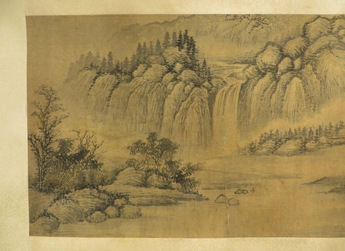 PAINTING ON SILK SIGNED WU LI BING (1632-1718) - 3