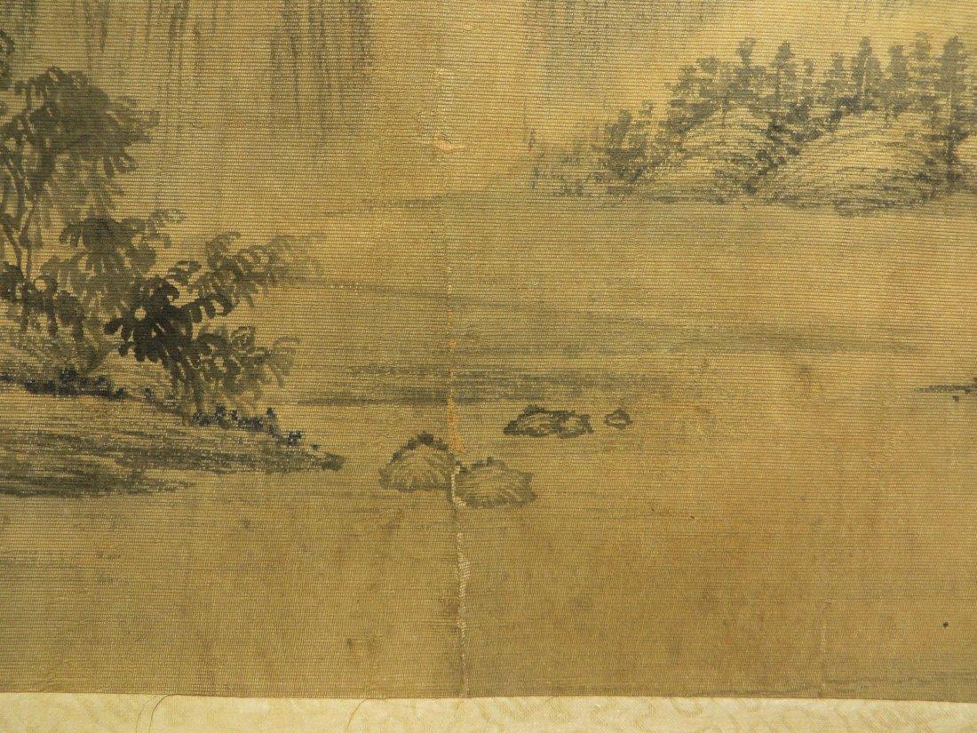 PAINTING ON SILK SIGNED WU LI BING (1632-1718) - 4