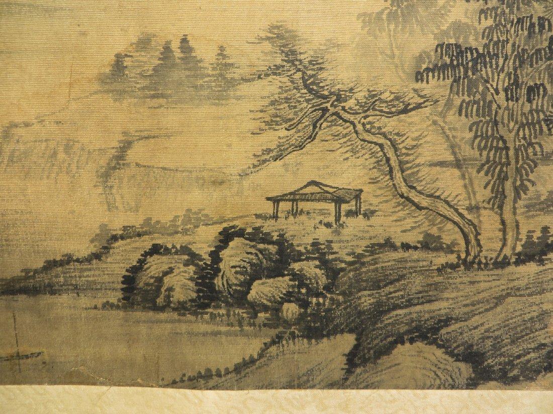 PAINTING ON SILK SIGNED WU LI BING (1632-1718) - 5
