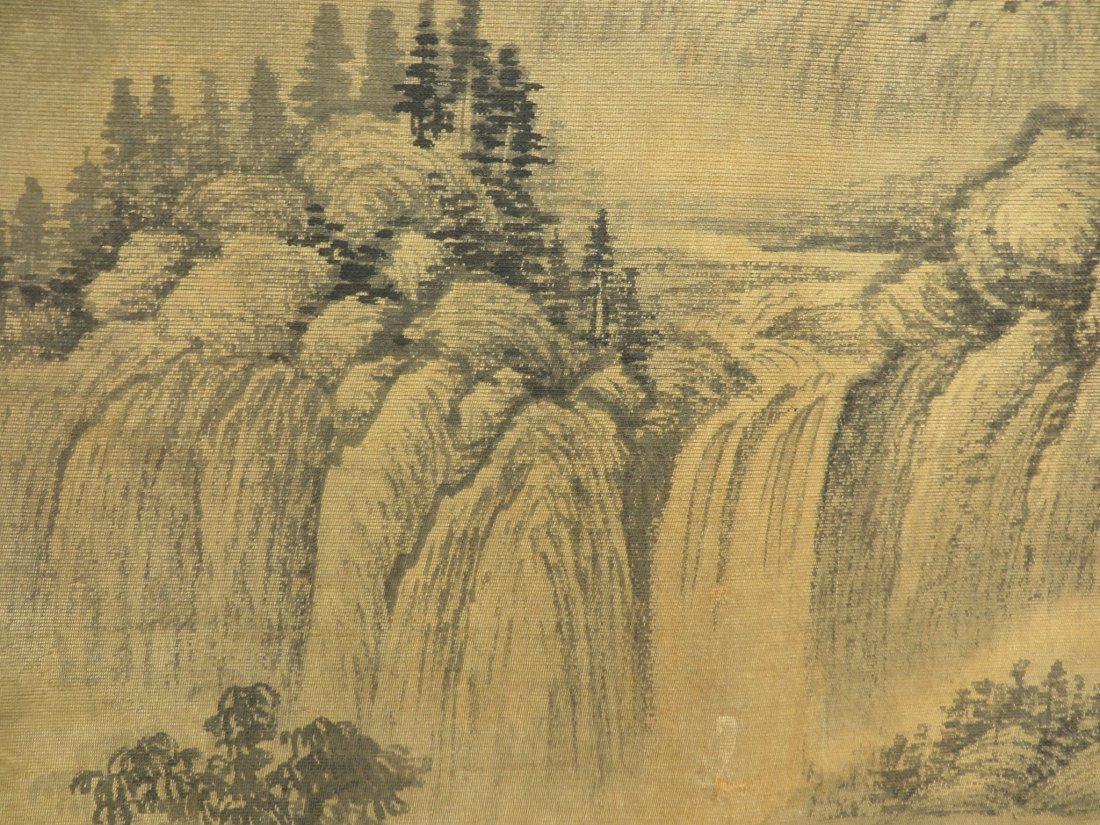 PAINTING ON SILK SIGNED WU LI BING (1632-1718) - 7