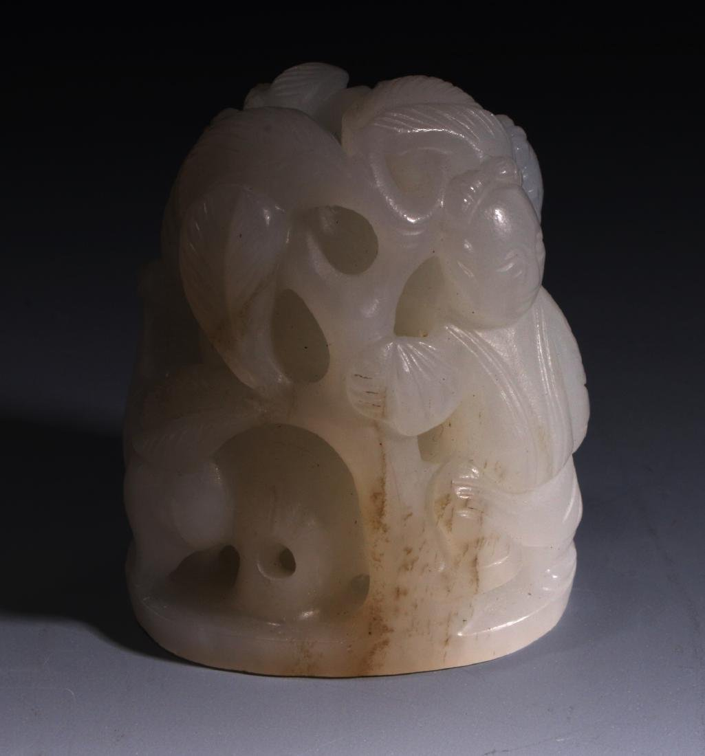 CHINESE WHITE JADE FINIAL - 7