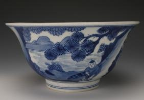 CHINESE BLUE & WHITE KANGXI BOWL