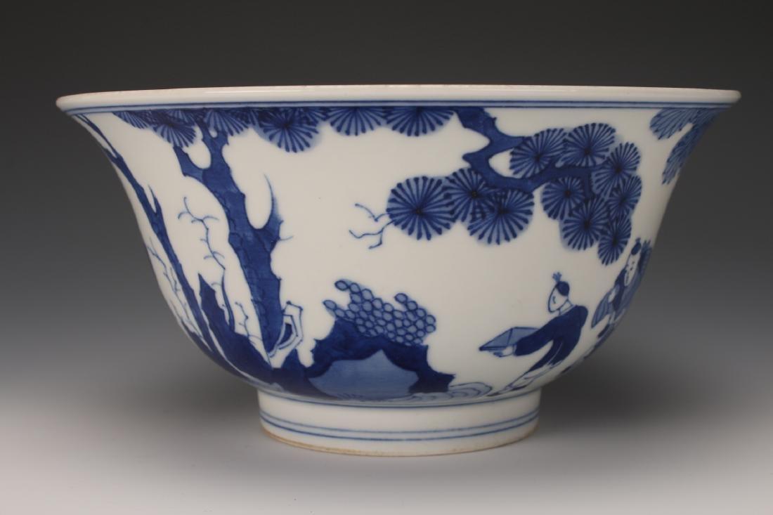 CHINESE BLUE & WHITE KANGXI BOWL - 2