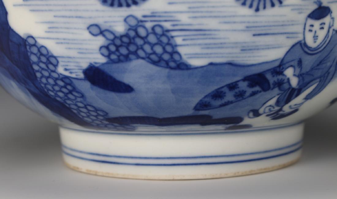 CHINESE BLUE & WHITE KANGXI BOWL - 4