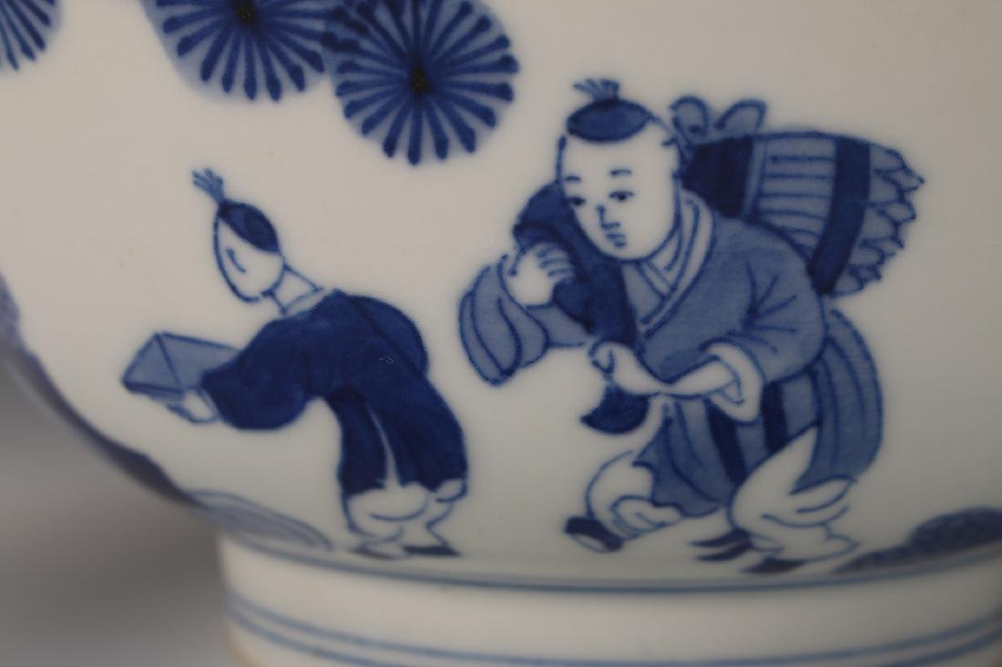 CHINESE BLUE & WHITE KANGXI BOWL - 5