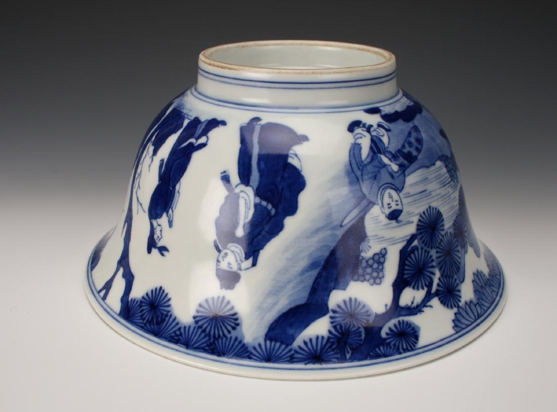 CHINESE BLUE & WHITE KANGXI BOWL - 7