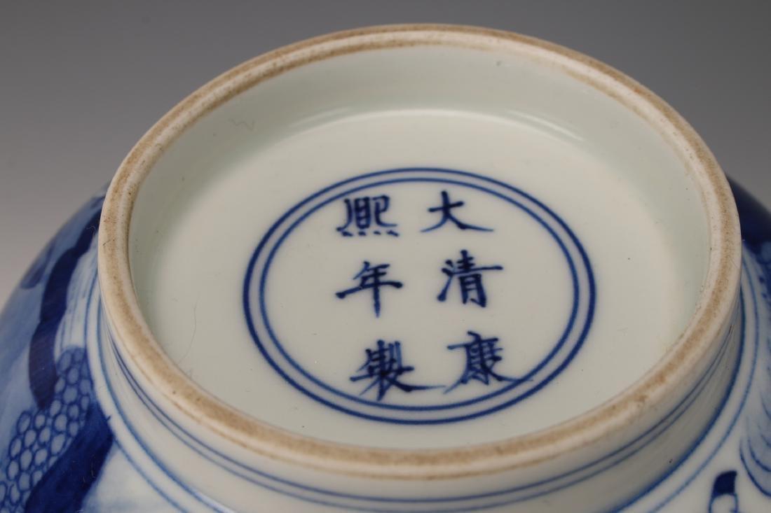 CHINESE BLUE & WHITE KANGXI BOWL - 8