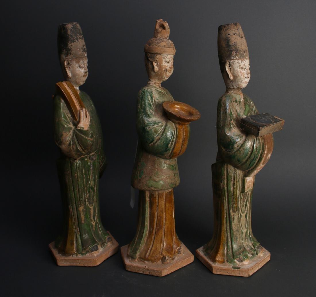 THREE TANG TERRA COTTA MEN - 2