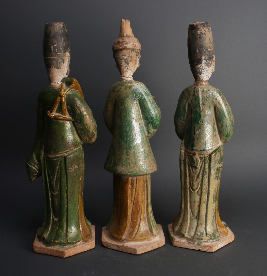 THREE TANG TERRA COTTA MEN - 3