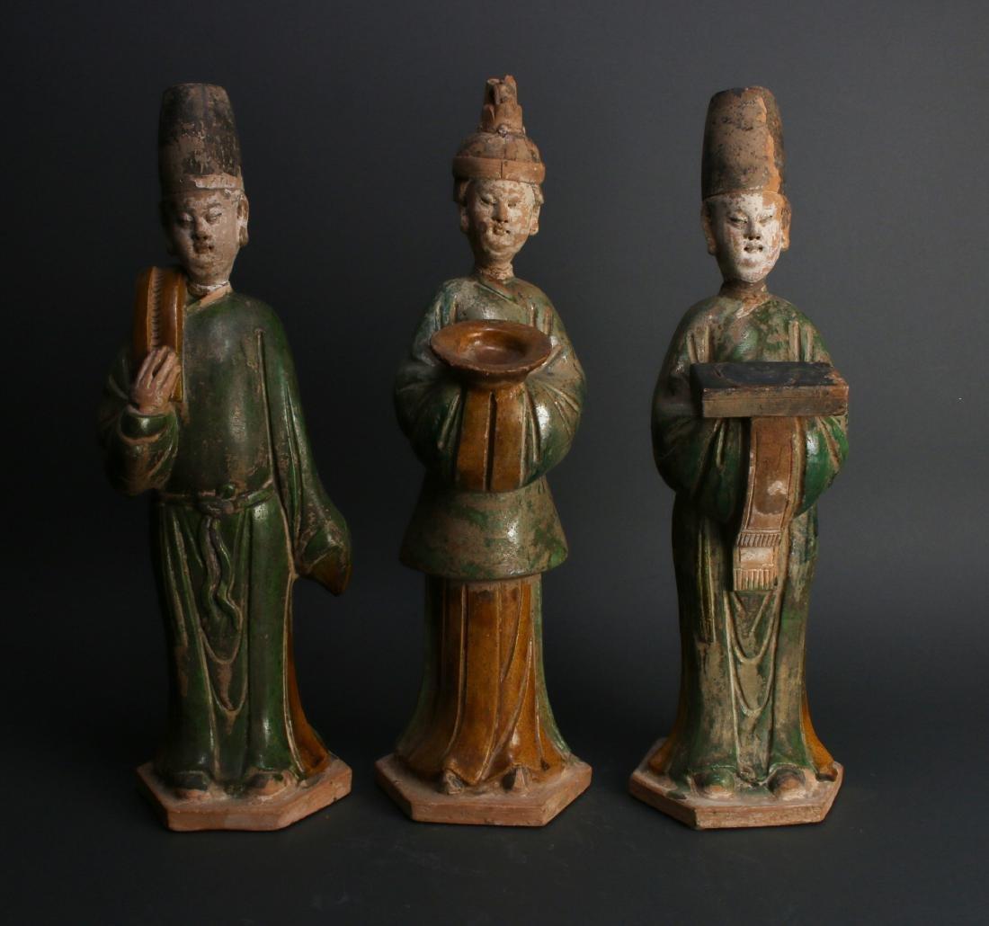 THREE TANG TERRA COTTA MEN - 4