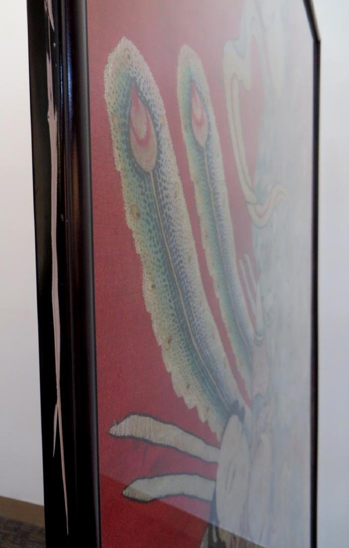 LARGE CHINESE KESI WALL HANGING EMBROIDERY - 9