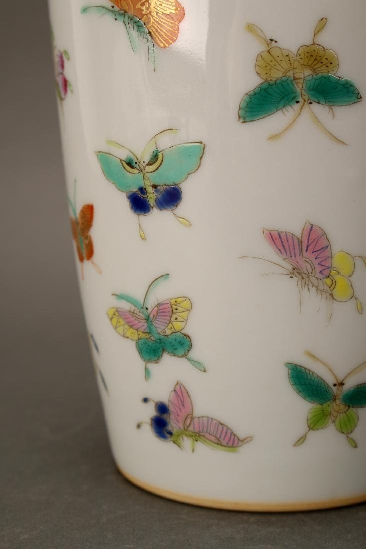 """CHINESE QIANLONG """"100 BUTTERFLY"""" VASE - 2"""