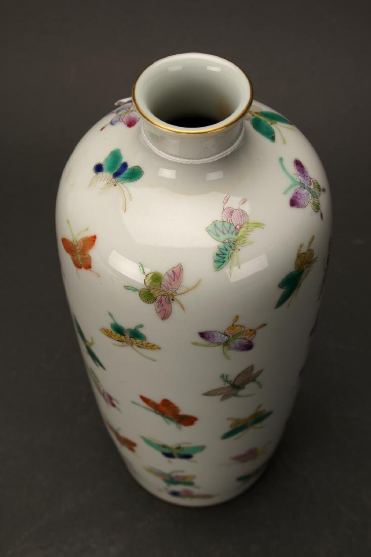 """CHINESE QIANLONG """"100 BUTTERFLY"""" VASE - 5"""