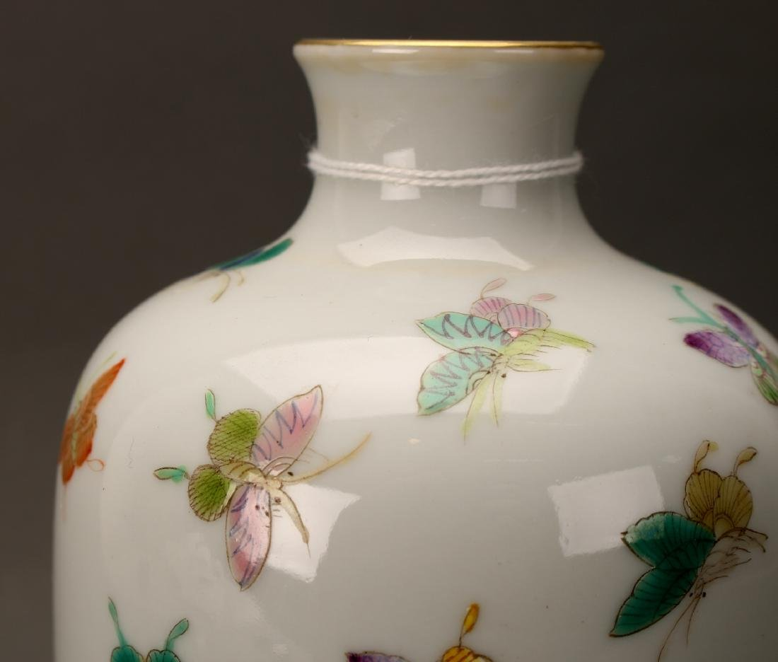 """CHINESE QIANLONG """"100 BUTTERFLY"""" VASE - 6"""