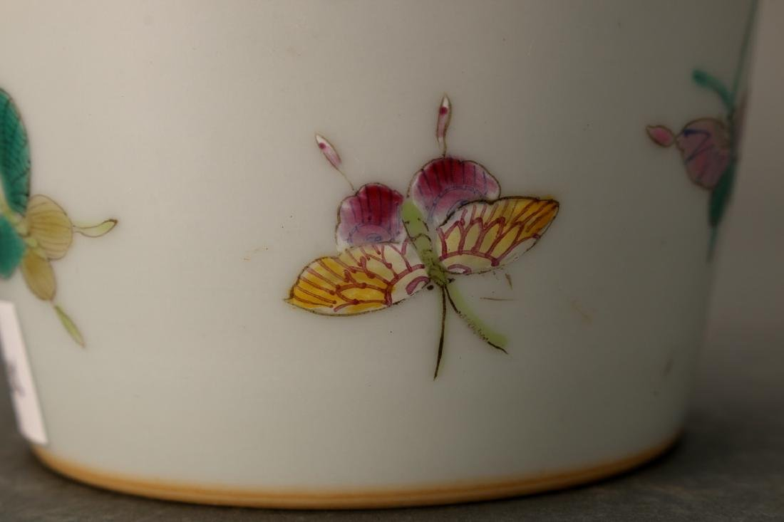 """CHINESE QIANLONG """"100 BUTTERFLY"""" VASE - 7"""