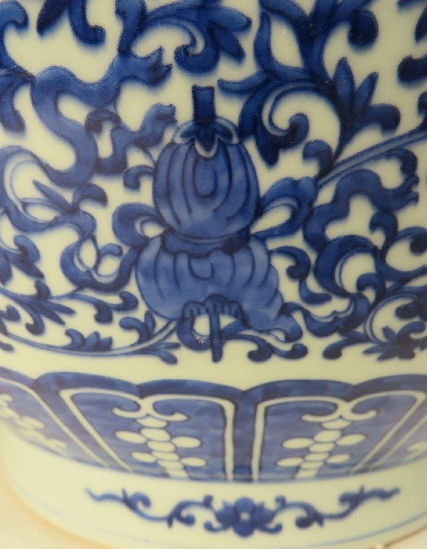 CHINESE QIAN LONG PORCELAIN ZUN VASE - 6
