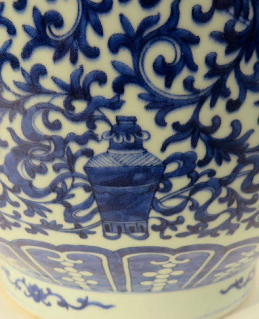 CHINESE QIAN LONG PORCELAIN ZUN VASE - 7