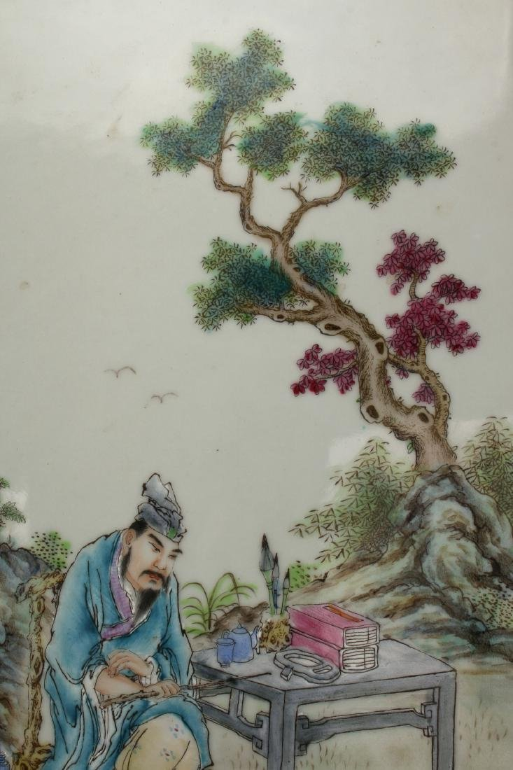 20TH CENTURY CHINESE PORCELAIN PLAQUE - 5