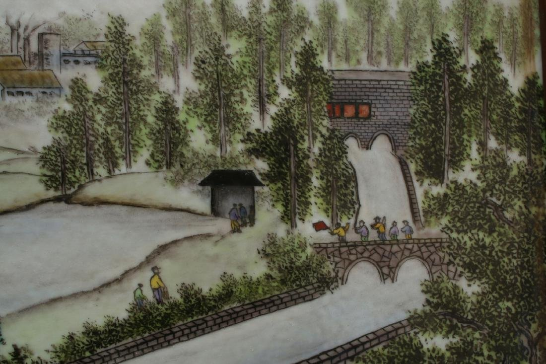 FRAMED PORCELAIN TILE OF LANDSCAPE SCENE - 3