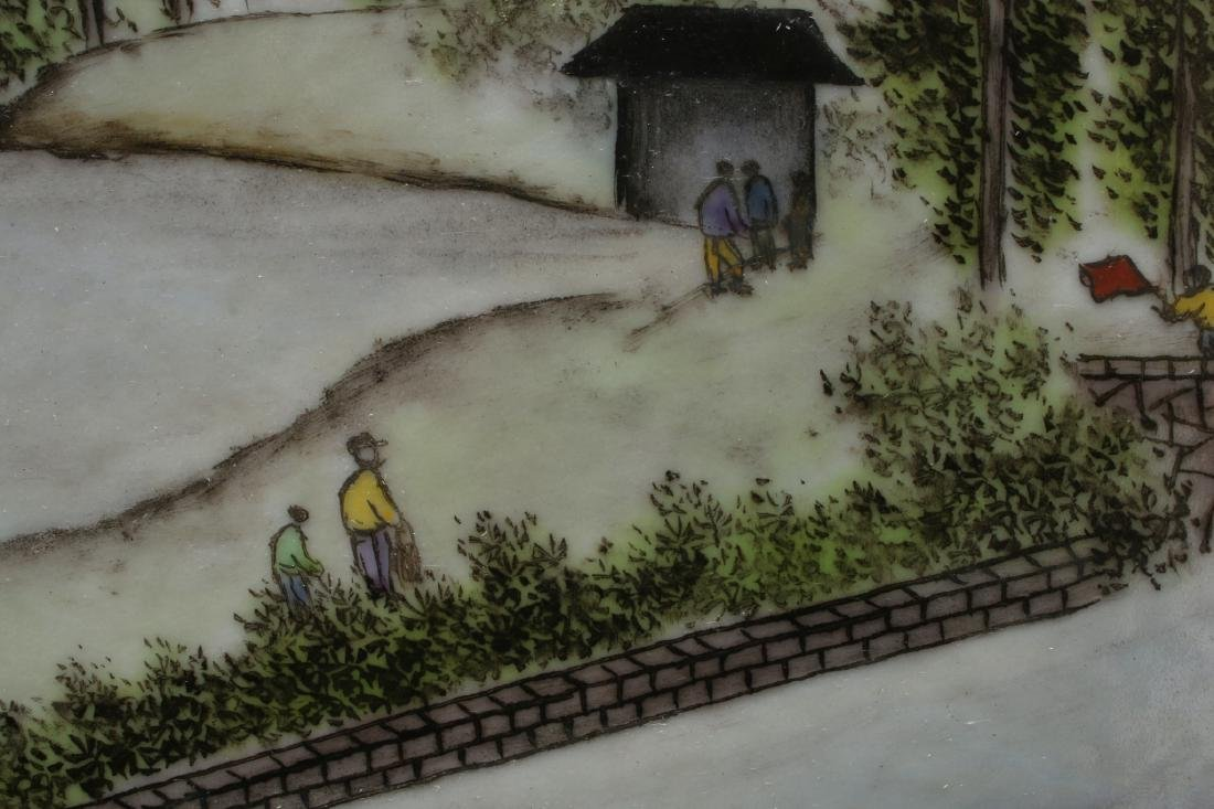 FRAMED PORCELAIN TILE OF LANDSCAPE SCENE - 4