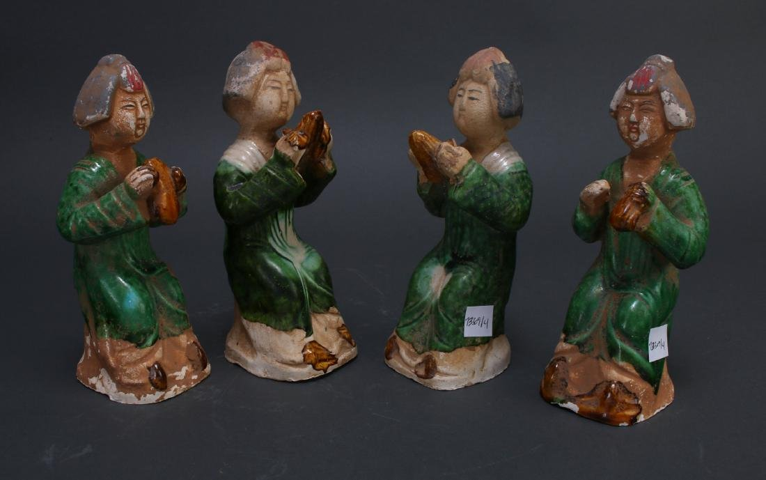FOUR TANG DYNASTY FIGURES