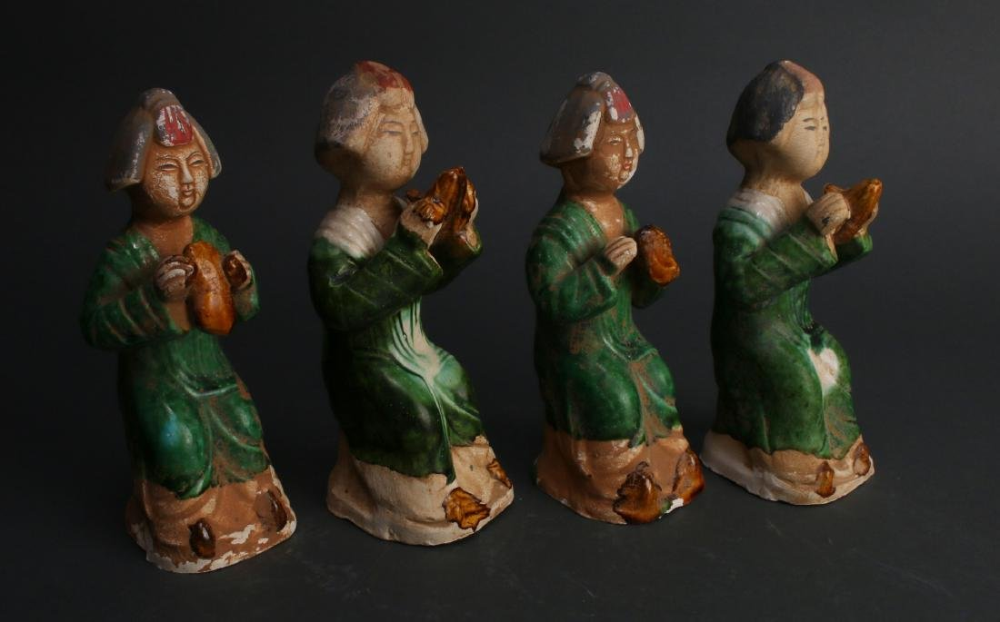 FOUR TANG DYNASTY FIGURES - 9
