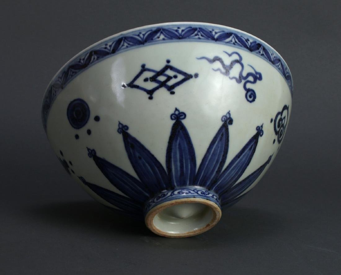 BLUE AND WHITE POMEGRANATE BOWL - 4