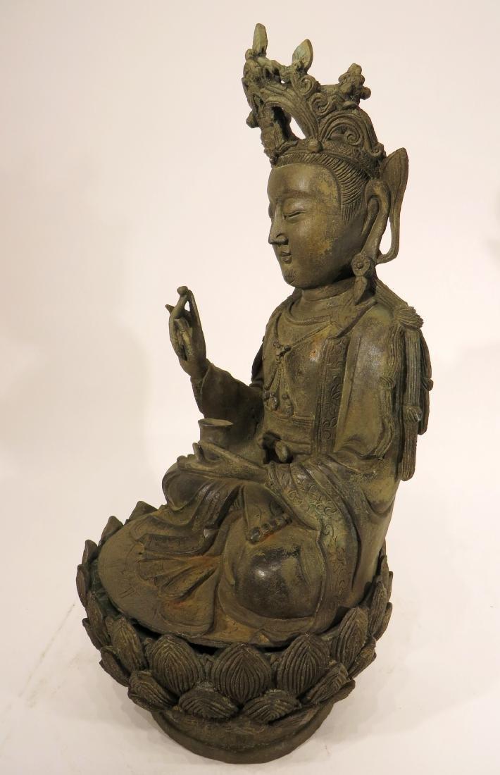 CHINESE MING DYNASTY BRONZE BUDDHA - 5