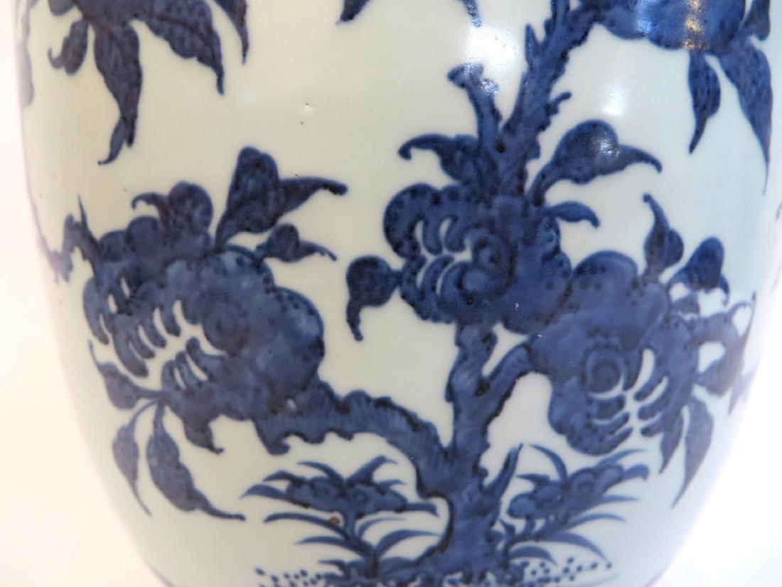CHINESE BLUE AND WHITE PORCELAIN VASE - 5