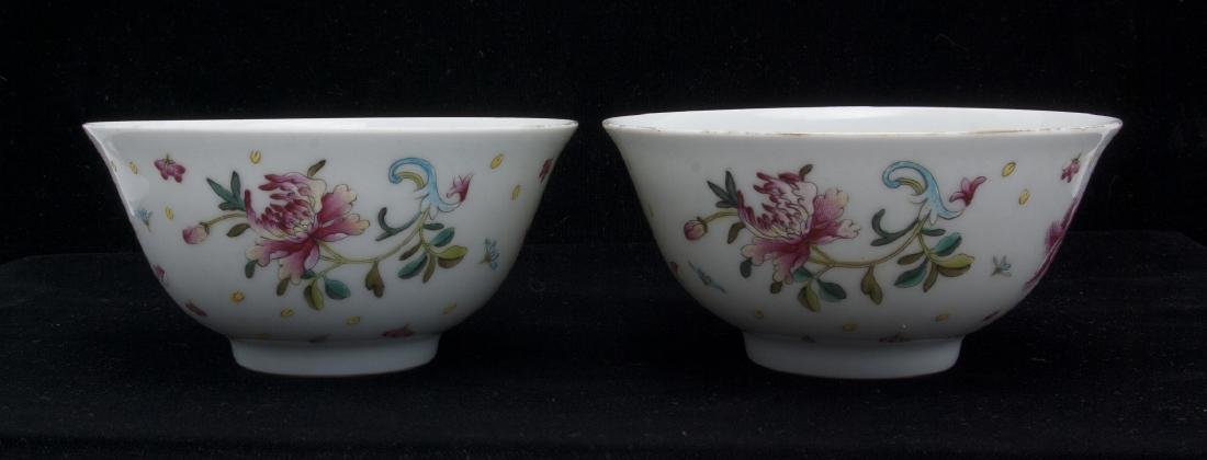 TWO PORCELAIN FLOWERED BOWLS