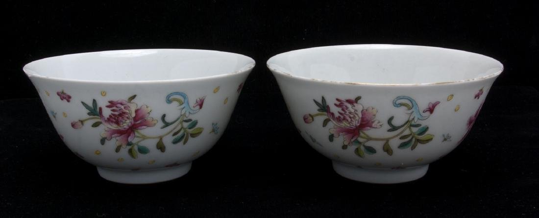 TWO PORCELAIN FLOWERED BOWLS - 2