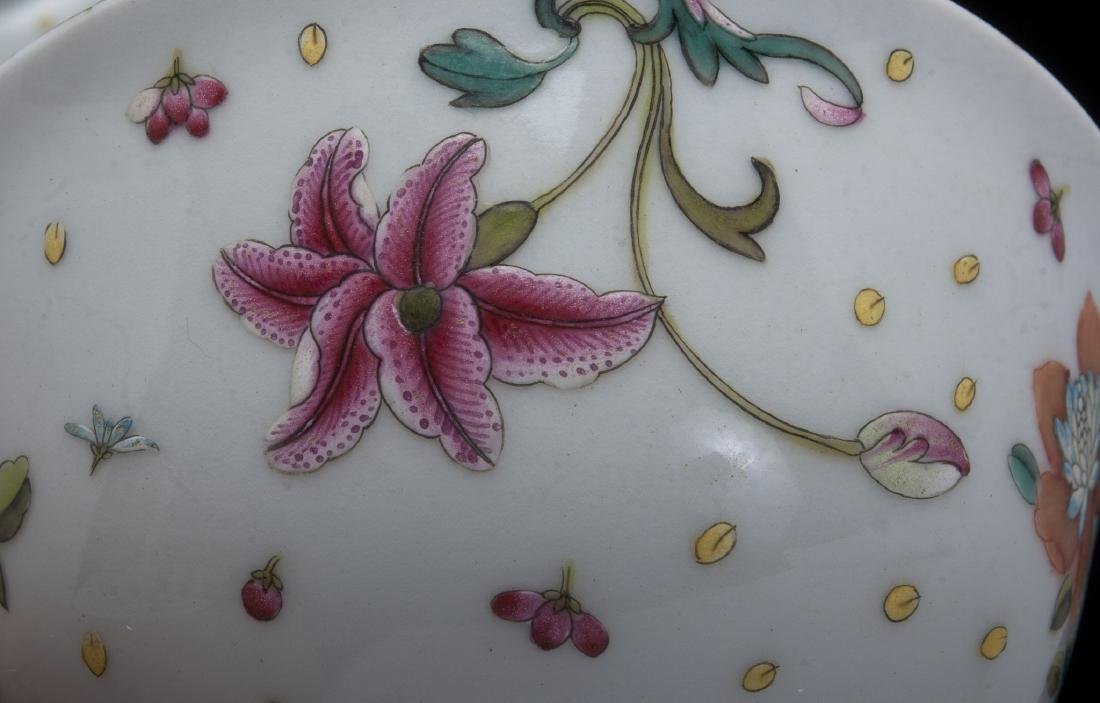 TWO PORCELAIN FLOWERED BOWLS - 3