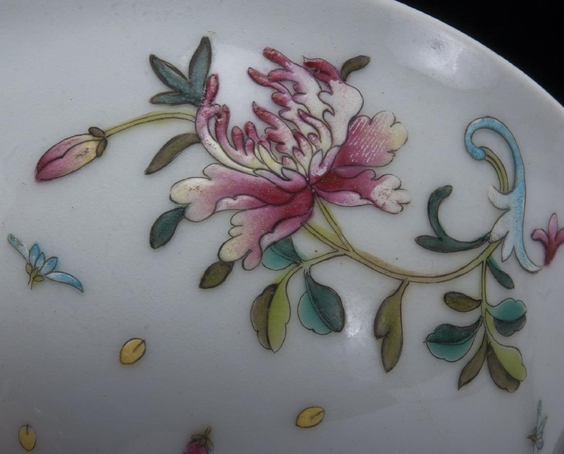 TWO PORCELAIN FLOWERED BOWLS - 4
